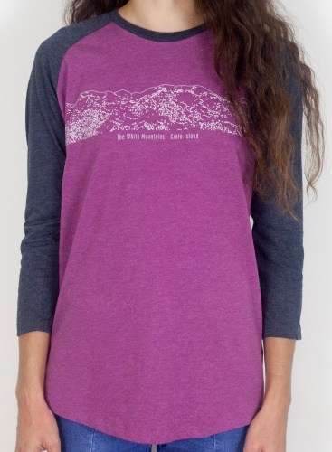 15.White Mountains Baseball T-shirt Melange Plum-Black